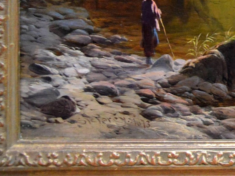 Betws-y-Coed, North Wales - 19th Century Oil Painting - Sidney Richard Percy For Sale 7