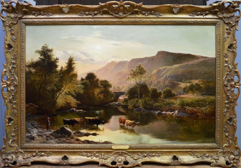 Betws-y-Coed, North Wales - 19th Century Oil Painting - Sidney Richard Percy - Brown Landscape Painting by Sidney Richard Percy