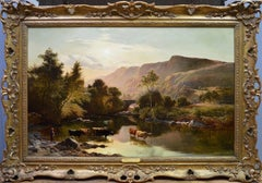 Betws-y-Coed, North Wales - Large 19th Century Oil Painting Sidney Richard Percy