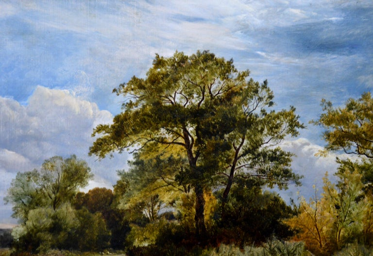 Furze Cutters - 19th Century Landscape Oil Painting - Royal Academy 1851 For Sale 4