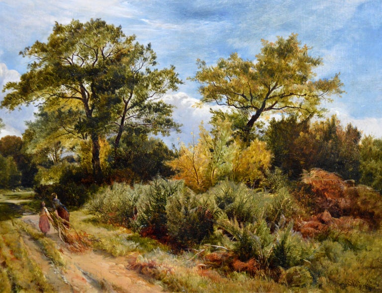 Furze Cutters - 19th Century Landscape Oil Painting - Royal Academy 1851 For Sale 6