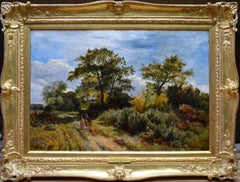 Furze Cutters - 19th Century Landscape Oil Painting - Royal Academy 1851