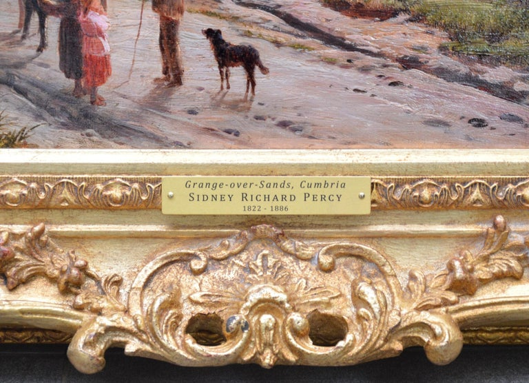 Grange-over-Sands - Large 19th Century Landscape Oil Painting of Cumbria Coast For Sale 7