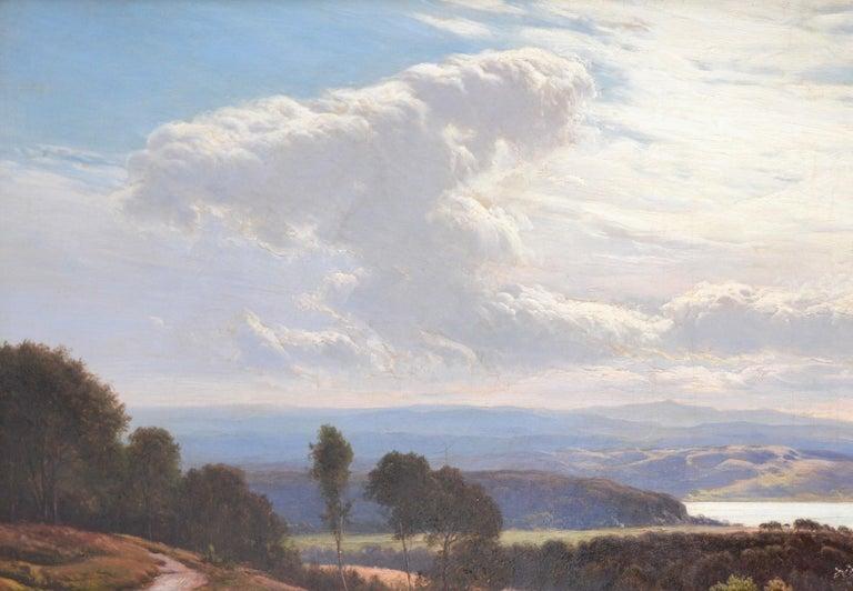 Grange-over-Sands - Large 19th Century Landscape Oil Painting of Cumbria Coast For Sale 1