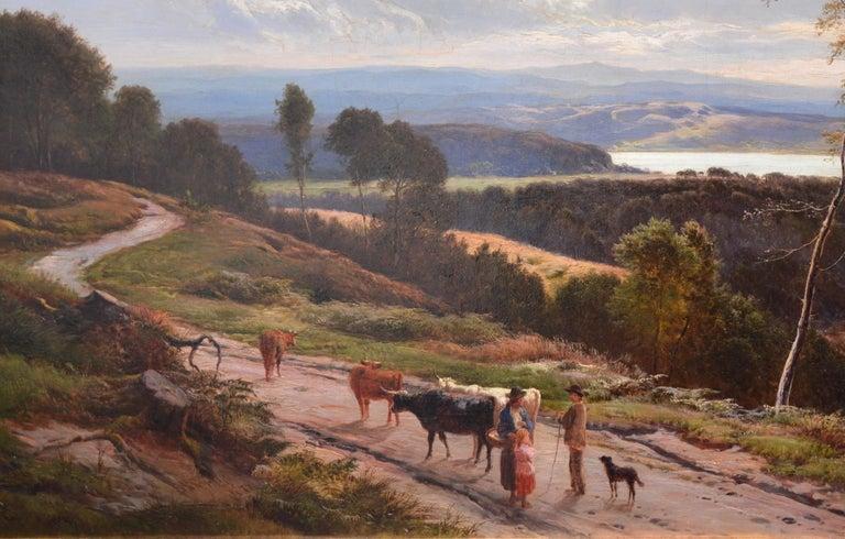 Grange-over-Sands - Large 19th Century Landscape Oil Painting of Cumbria Coast For Sale 2