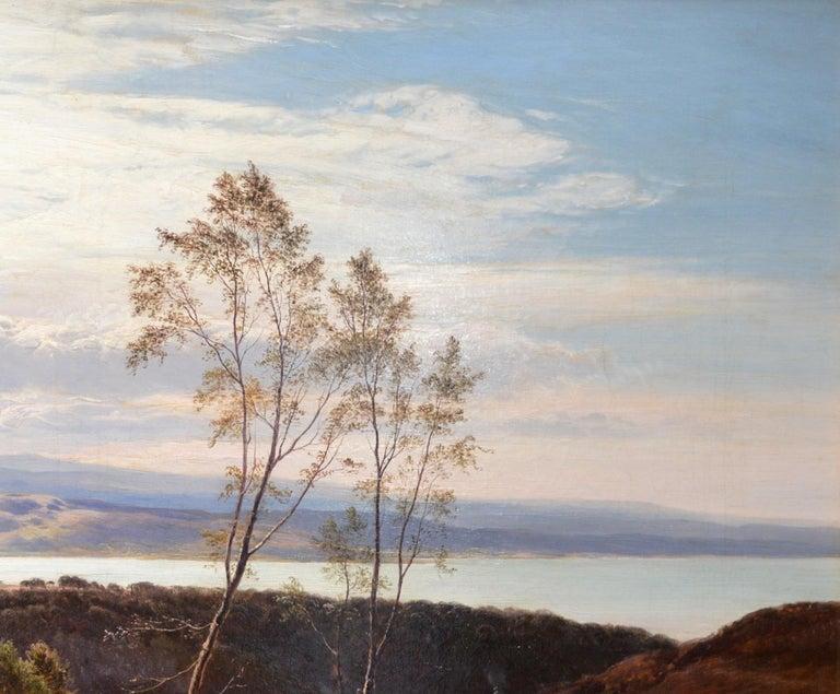 Grange-over-Sands - Large 19th Century Landscape Oil Painting of Cumbria Coast For Sale 3