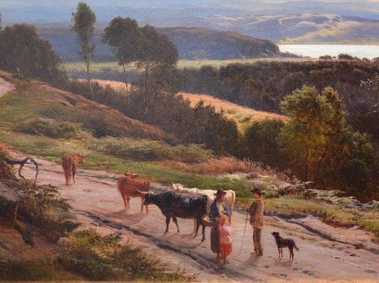 Grange-over-Sands - Large 19th Century Landscape Oil Painting of Cumbria Coast For Sale 4