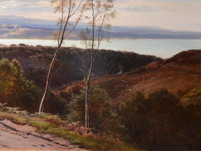 Grange-over-Sands - Large 19th Century Landscape Oil Painting of Cumbria Coast For Sale 5