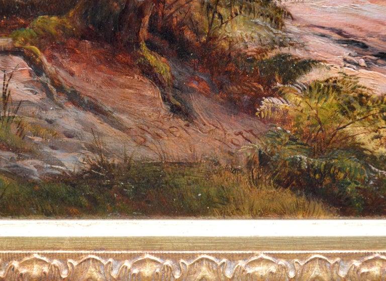 Grange-over-Sands - Large 19th Century Landscape Oil Painting of Cumbria Coast For Sale 6