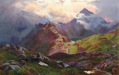 Snowdon, from above Llyn Llydaw, North Wales - Sidney Richard Percy - British