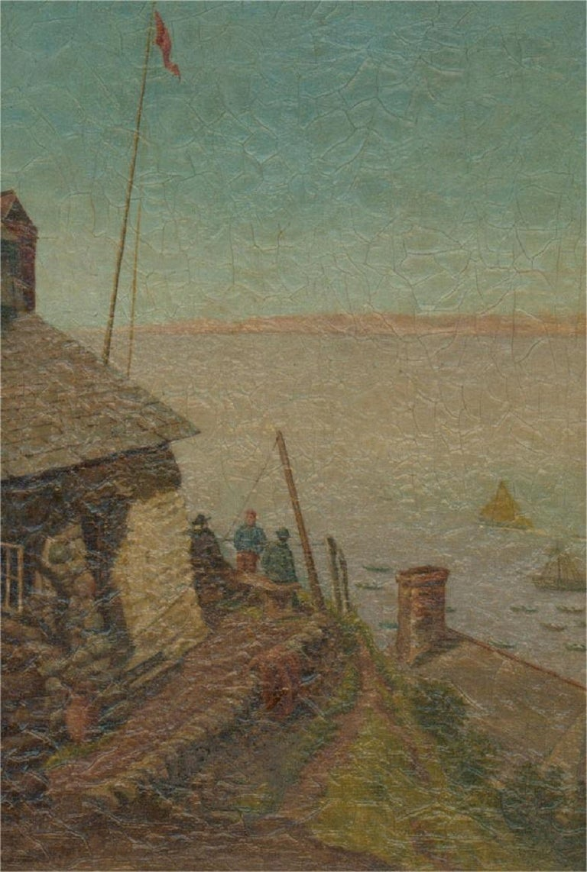 Sidney Yates Johnson (fl. 1890-1926) - 1894 Oil, Blue Skies - Brown Figurative Painting by Sidney Yates Johnson