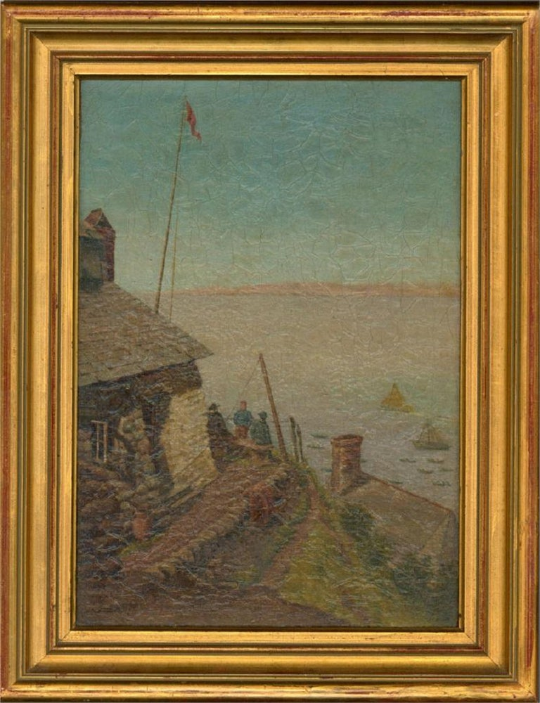 Sidney Yates Johnson (fl. 1890-1926) - 1894 Oil, Blue Skies - Painting by Sidney Yates Johnson