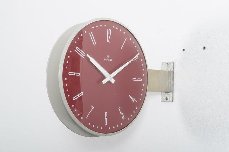 Siemens Halske Double Faced Train Station, Wokshop, Factory Clock For Sale 2