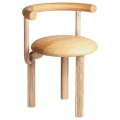 Sieni, a 21st Century Round Wooden Mushroom Dining Chair in Scandinavian Design