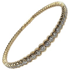Siera 18 Karat Rose Gold and Diamond Flexible Beaded Bangle