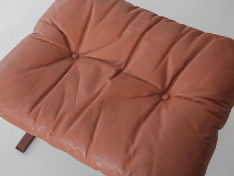 Leather Siesta Chair Low Back by Ingmar Relling For Sale