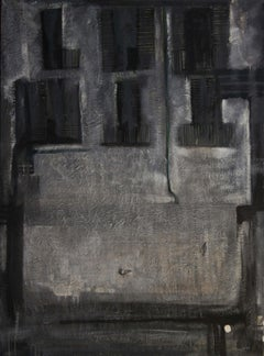 Pigeons in winter. 1999. Oil on canvas,  150x111 cm