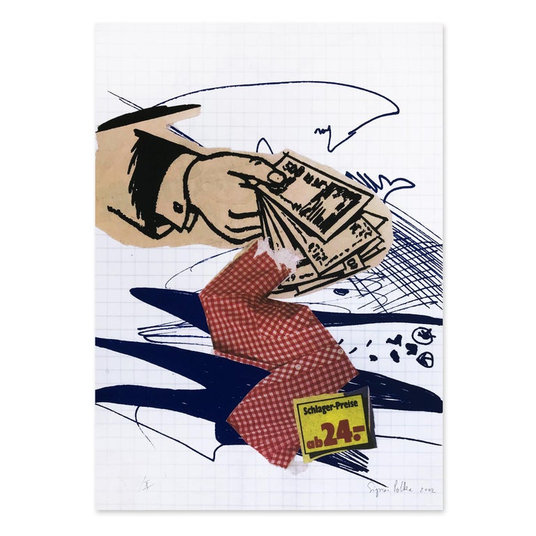 Sigmar Polke Figurative Print - Bargeld Lacht (Cash is Laughing)