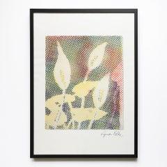 Calla, Flower Still-Life, Pop Art, 20th Century Art, Abstract vs Figurative