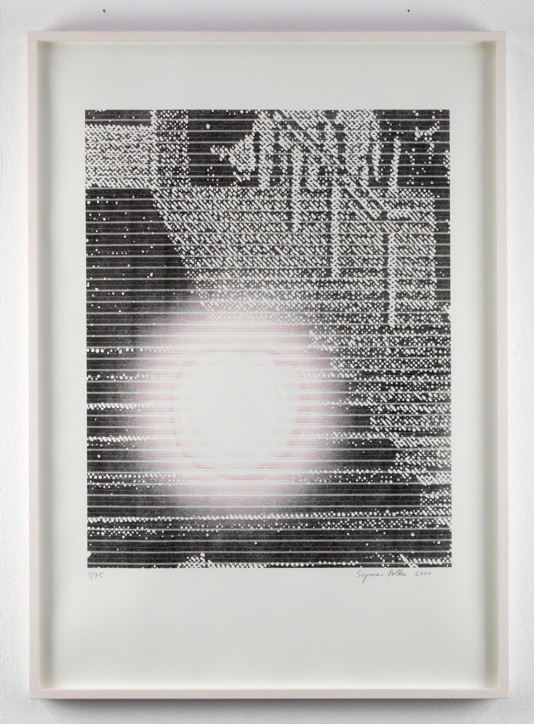 Die Treppe von Cannes / The stairway of Cannes / Offset / signed by Polke