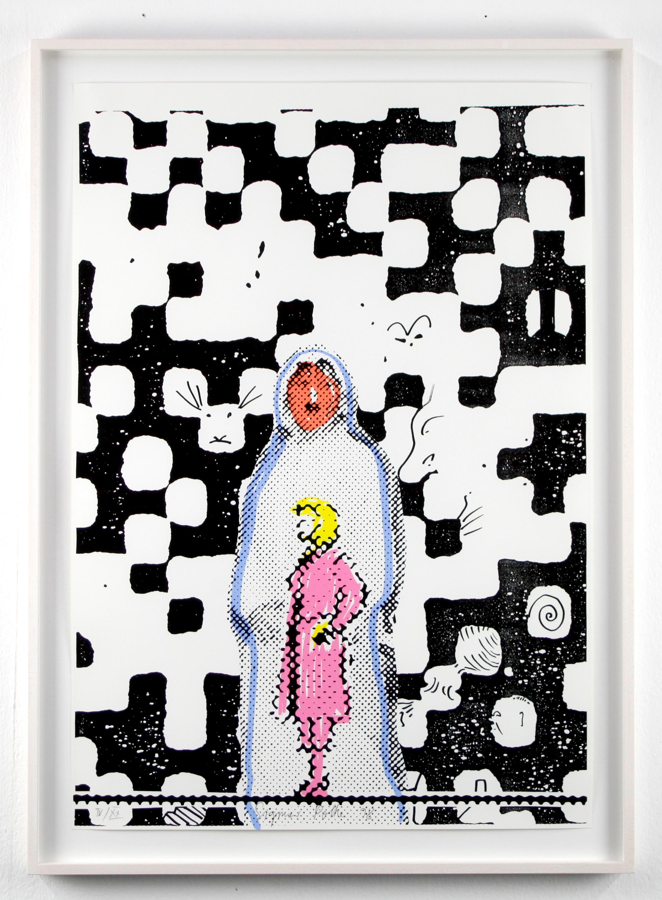 Hallucie // Screen print // Signed and numbered by Polke
