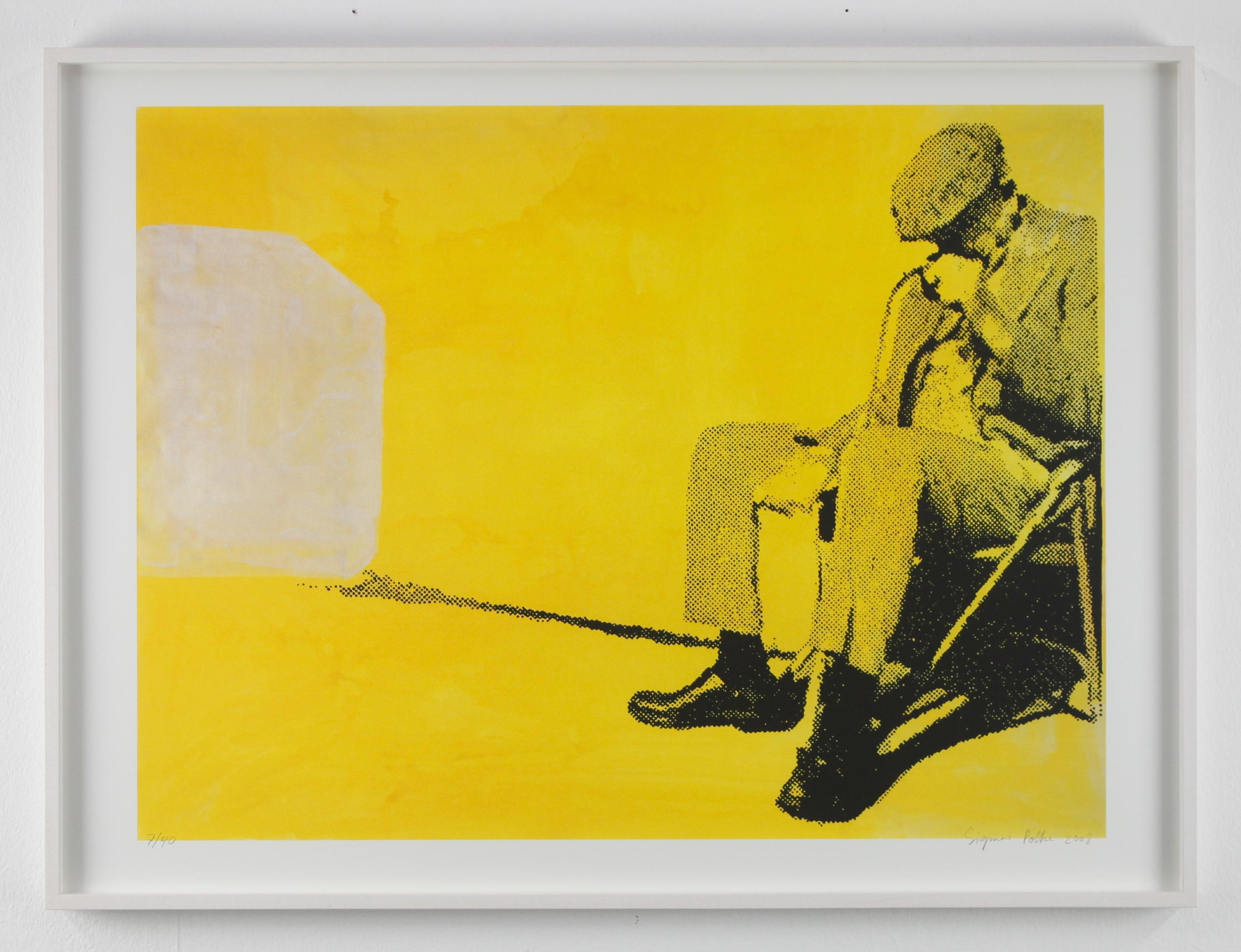 I got the blues / Screen-Print / signed and numbered by Polke / yellow / beggar