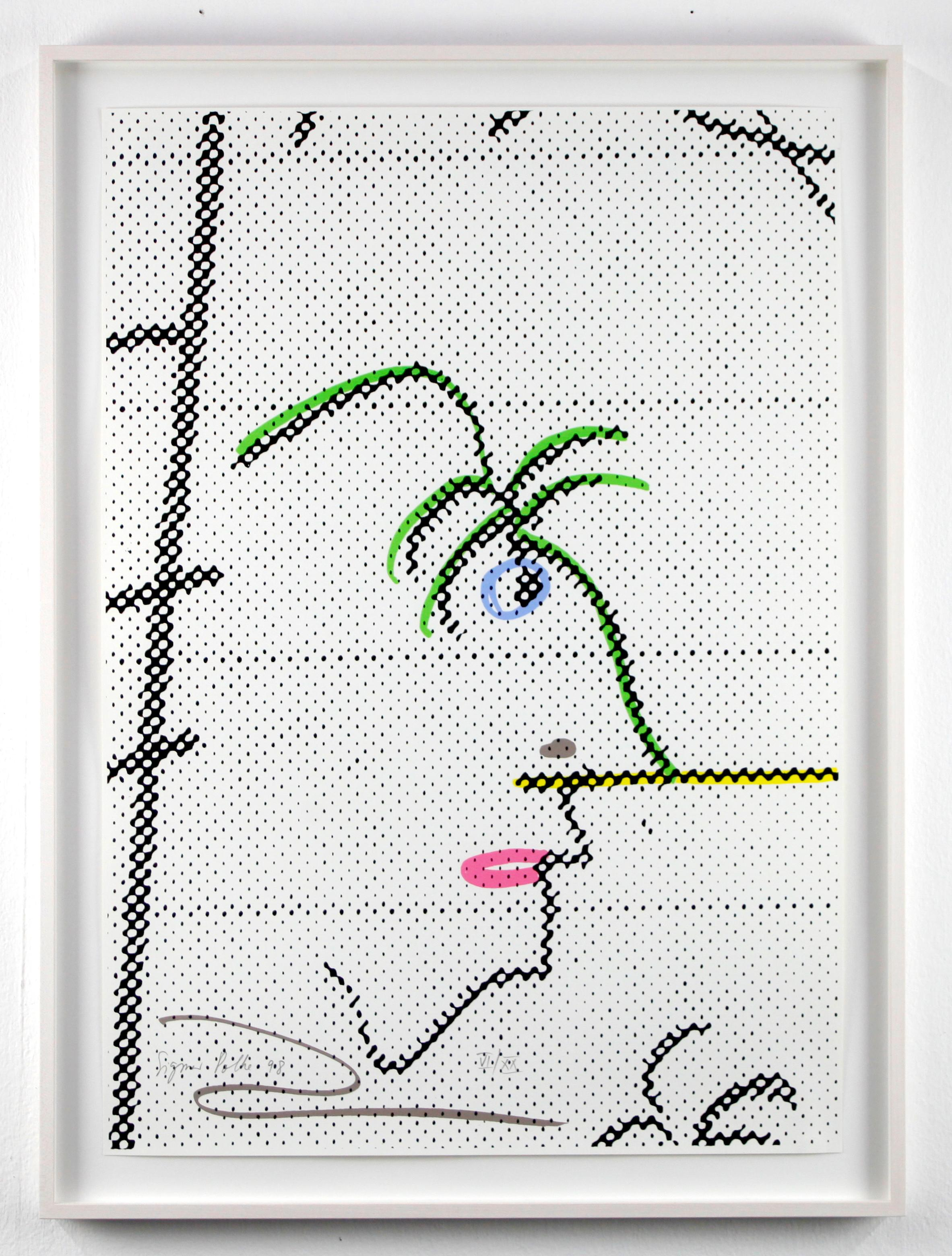 Oase / Offsetprint / Schoellershammer Cardboard / signed and numbered by Polke