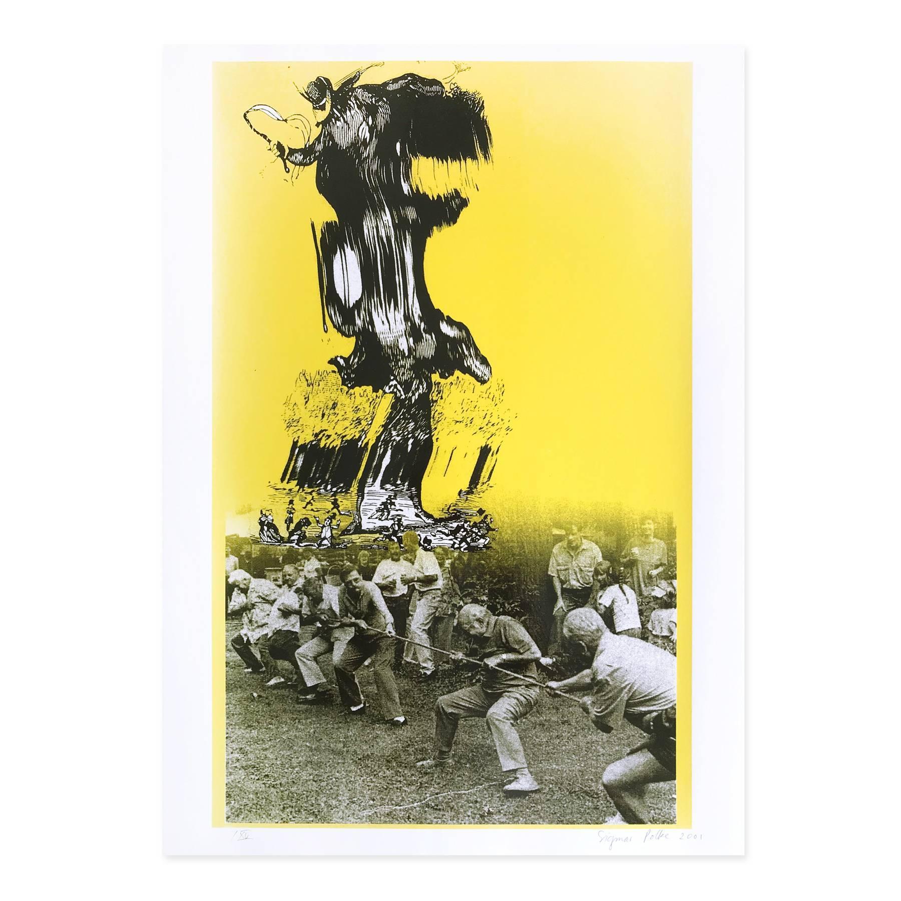 The Devil from Berlin, Screen Print, Pop Art, Collage, 21st Century