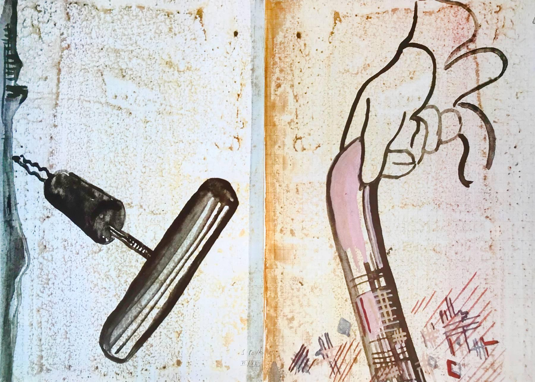 Untitled (Spazierstock), Offset Print, German Pop Art, 20th Century