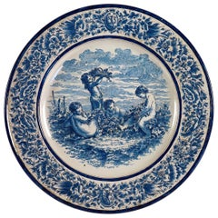 Sign by A Montagnon, Late 19th Century, Magnificent Faience Never Round Dish