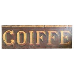 "Sign ""COIFFE"", Part of a Coiffeur Shop Sign, 19th Century"