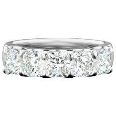 Signature Cushion Diamond Anniversary Ring in 18 Karat White Gold