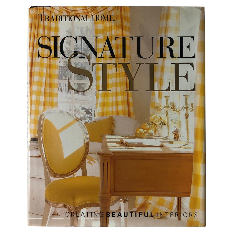 Signature Style Creating Beautiful Interiors Hardcover Coffee Table Book For Sale