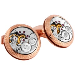 Signature Vintage Skeleton Round Cufflinks