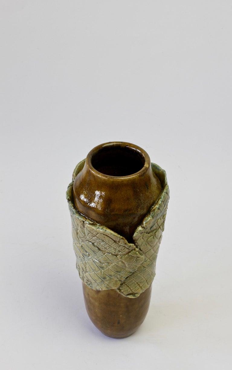 Signe Pistorious-Lehmann Organic German Art Studio Pottery Vase, circa 1980s For Sale 3