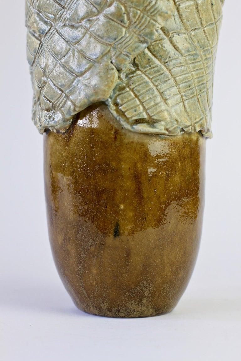 Signe Pistorious-Lehmann Organic German Art Studio Pottery Vase, circa 1980s For Sale 12