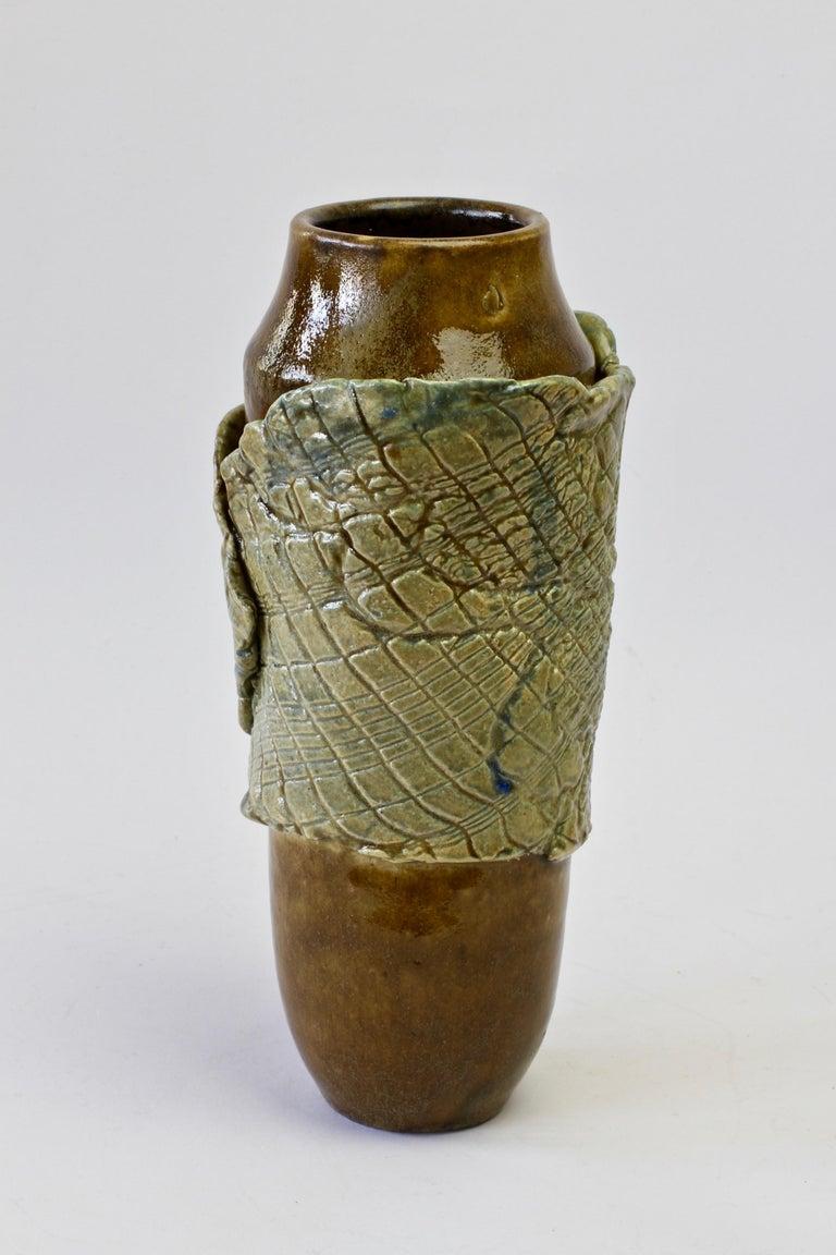 Organic Modern Signe Pistorious-Lehmann Organic German Art Studio Pottery Vase, circa 1980s For Sale