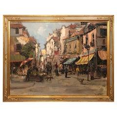 Signed 1950s European Street Scene
