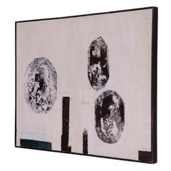 Signed 1960's Monochromatic Abstract Painting