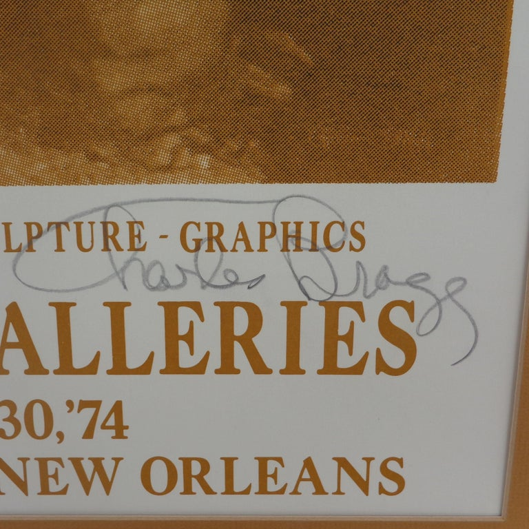 Paper Signed 1974 Charles Bragg New Orleans