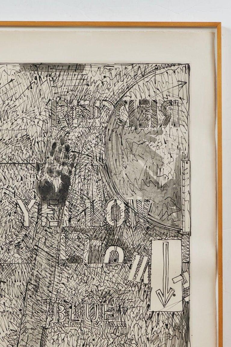 American Signed, 1979, Jasper Johns Etching