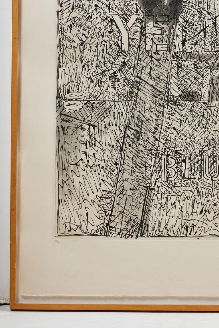 Signed, 1979, Jasper Johns Etching In Good Condition In Newport Beach, CA