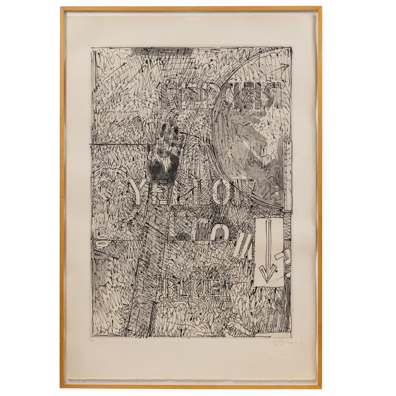 Signed, 1979, Jasper Johns Etching