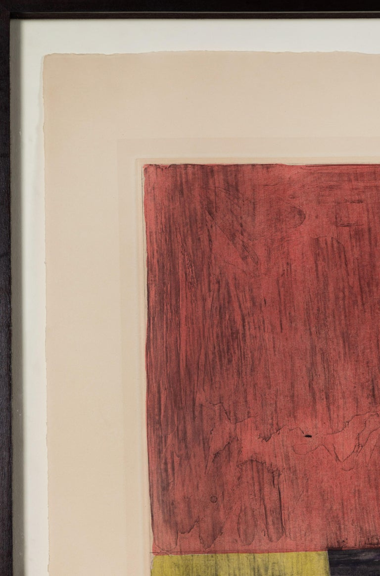 Signed, dated and numbered, 1981 aquatint and color etching on Rives BFK paper- Periscope, by iconic American artist, Jasper Johns (b. 1930). Marked 22 /88 on the lower left. Signed and dated, lower right. Select collections: MOMA, NYC; National