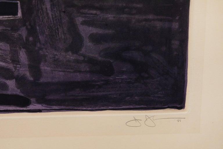 American Signed, 1981, Jasper Johns Aquatint For Sale