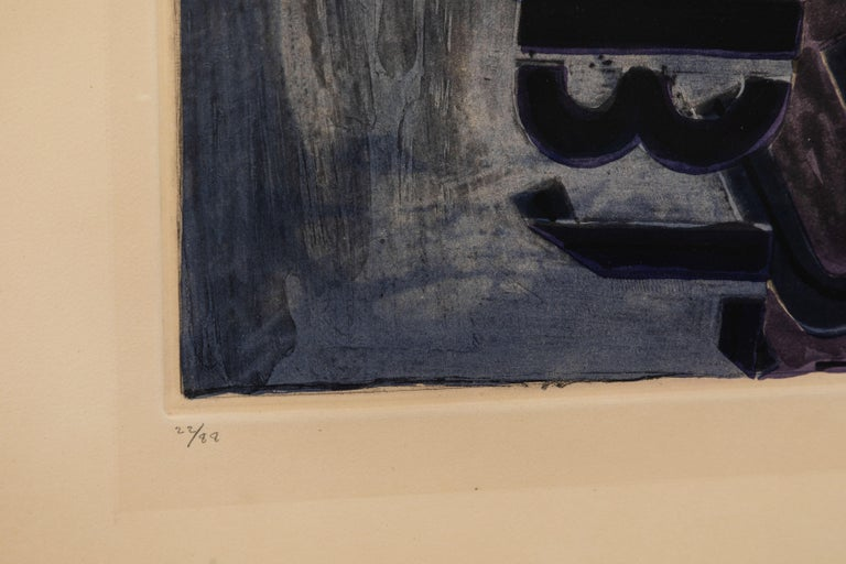 Signed, 1981, Jasper Johns Aquatint In Good Condition For Sale In Newport Beach, CA