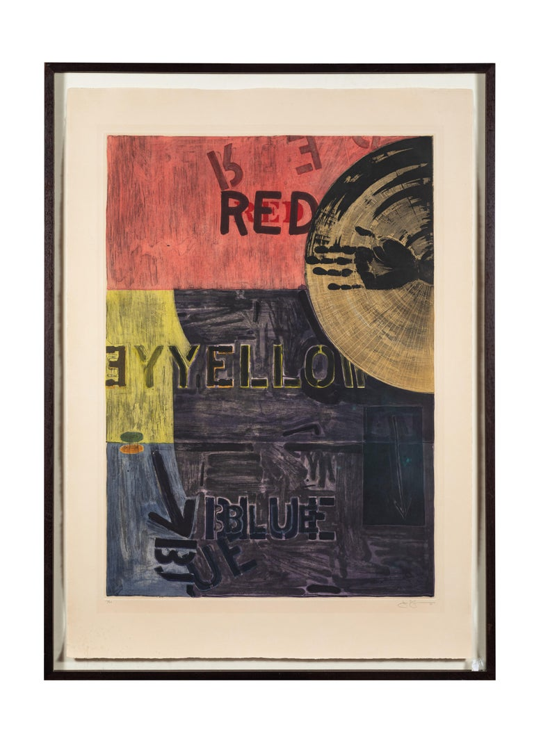 Paper Signed, 1981, Jasper Johns Aquatint For Sale