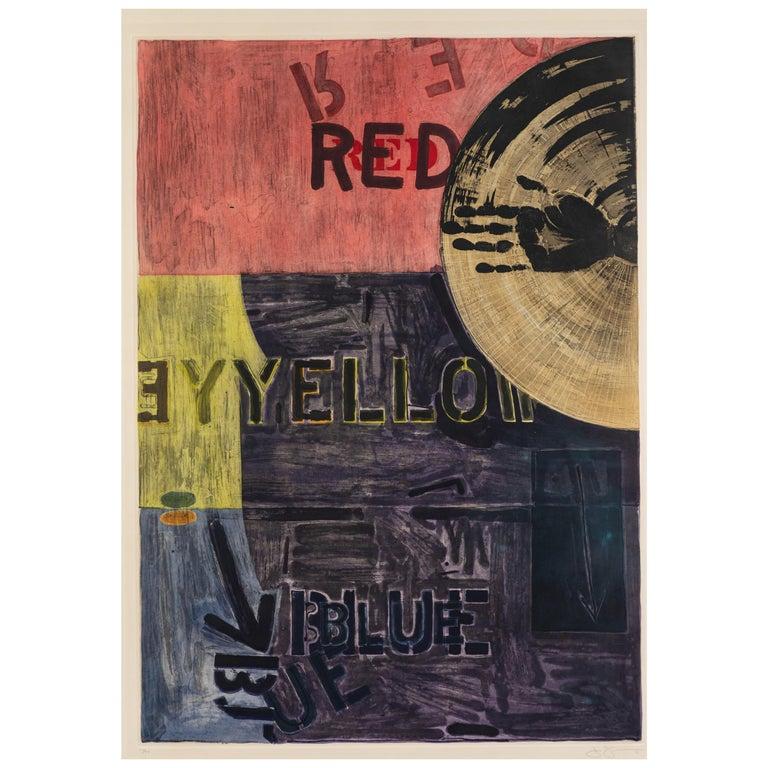 Signed, 1981, Jasper Johns Aquatint For Sale