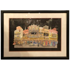 Signed 3 D Art of Broadway by McCue