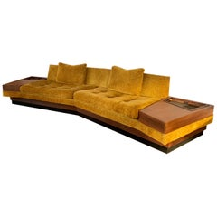 Signed Adrian Pearsall for Craft Associates Boomerang Sofa One Piece 12FT